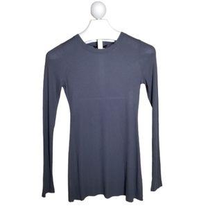BCBG Raw Hem Long Sleeve Tunic